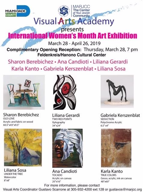 Artistas Argentinas en International Women's Month Art Exhibition
